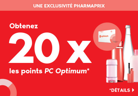 Obtenez 20 x les points PC Optimum*