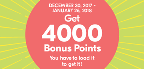 Get 4000 Bonus Points