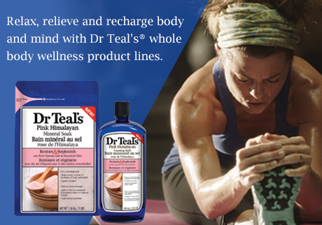 Relax, relieve and recharge body and mind with Dr Teal's® whole body wellness product lines.