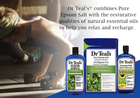 Dr Teal's® combines Pure Epsom Salt