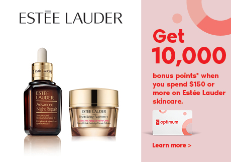 Get 10,000 bonus points* when you spend $150 or more on Estée Lauder skincare.