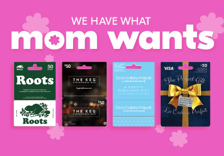 Whether she loves to shop, dine or unwind, you'll find the perfect gift card for Mom at our Gift Card Mall™.