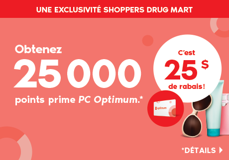 Obtenez 25 000 points prime PC Optimum*