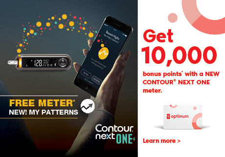 Get 10,000 bonus points with a new CONTOUR® NEXT ONE meter