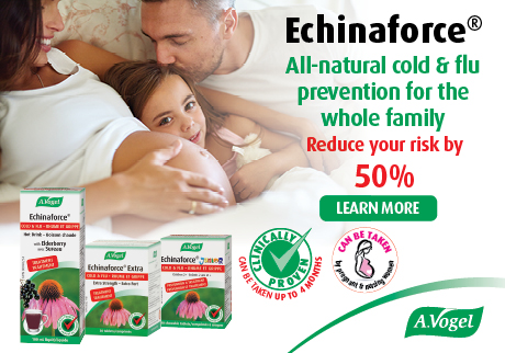 Echinaforce. All natural cold & flu prevention for the whole family. Learn more >