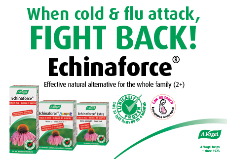 When cold & flu attack, FIGHT BACK! Echinaforce