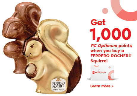 Get 1000 PC Optimum points when you buy FERRERO ROCHER Easter Squirrel