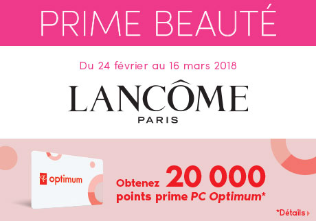Obtenez 20 000 points prime PC Optimum*