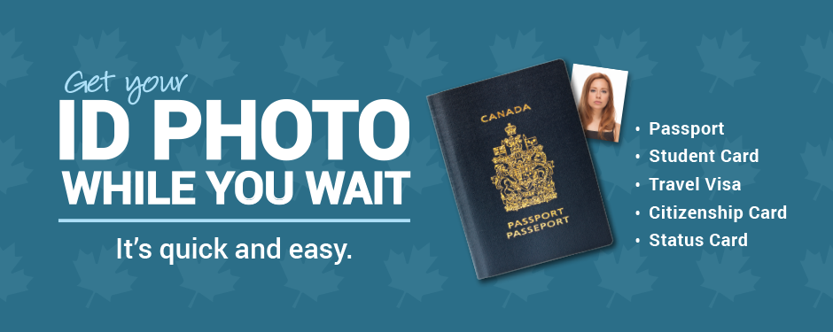 Get your ID photo for the while you wait. It's quick and easy.