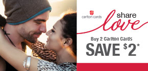 Buy 2 Carlton Cards, Save $2*