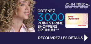 Obtenez 3 000 points prime Shoppers Optimum*