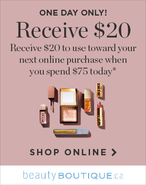 Receive $20 to use toward your next online purchase when you spend $75 today* | Shop Online >