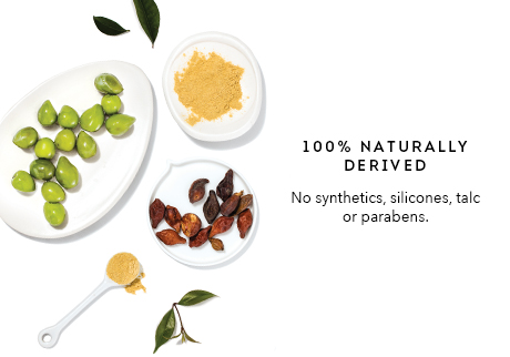 The products are 100% naturally derived ingredients, and formulated without synthetic ingredients or preservatives.
