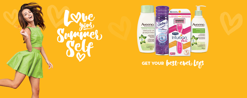 Get your best-ever legs with Schick®, Aveeno® and Skintimate®.