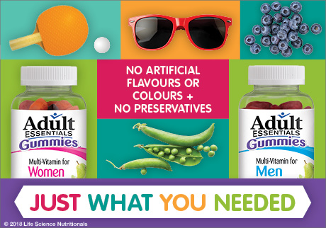 Adult Essentials Gummies. No artificial flavours or colours + No preservatives