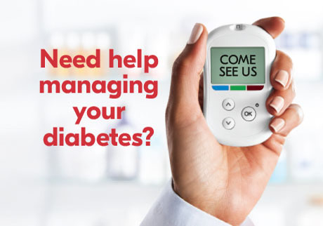 Need help managing your diabetes? Come see us.