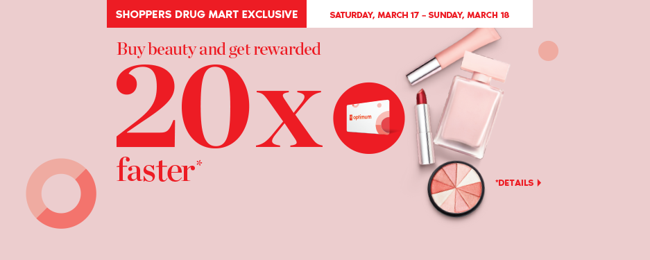 Buy beauty and get 20x the points