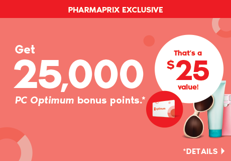Get 25,000 <i>PC Optimum</i> bonus points when you spend $75 or more on almost anything in the store.