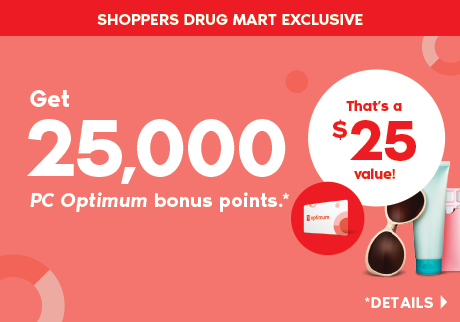Get 25,000 PC Optimum bonus points when you spend $75 or more on almost anything in the store.