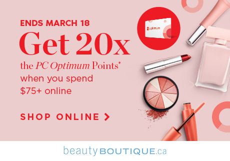 Get 20x the PC Optimum Points* when you spend $75+ online. Shop Online >