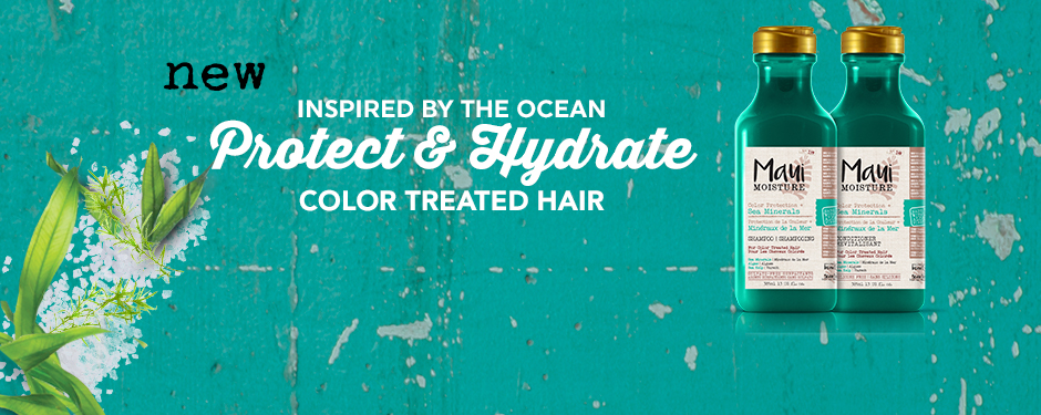 Inspired by the ocean. Protect & Hydrate colour treated hair.