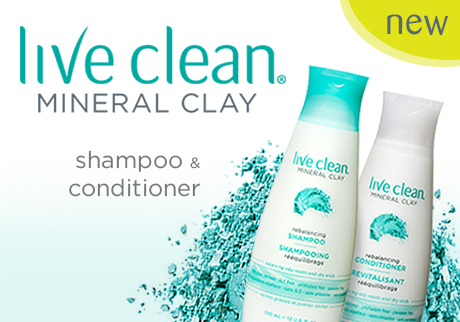 New Live Clean Mineral Clay Shampoo & Conditioner.