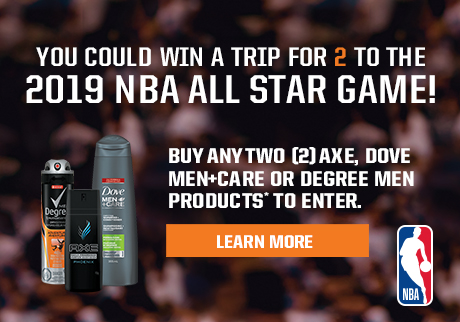 Get a shot to WIN* a trip for 2 to the NBA 2019 All Star Game!