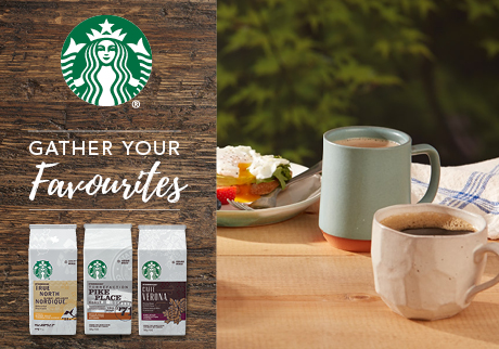 Delicious Starbucks<sup>®</sup> Coffees to brighten your spring table