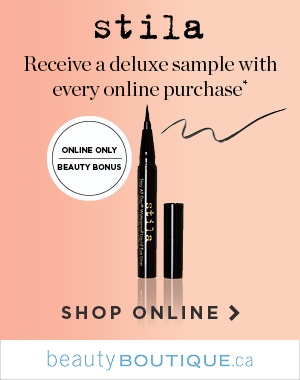 A Mini Stila Must-Have  Get a mini Stila Eyeliner when you shop your favourite beauty brands online, while quantities last.