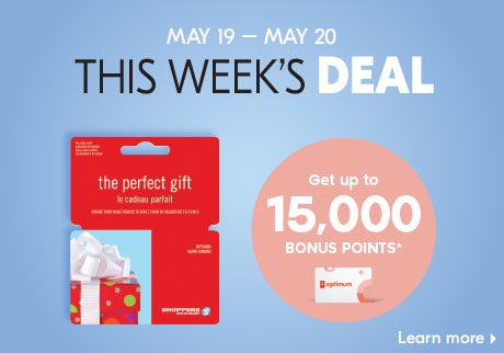 This week's deal | Get up to 15,000 bonus points* | Learn more >