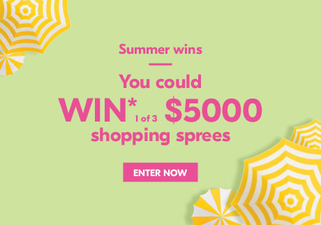 You could WIN* 1of 3 $5,000 shopping sprees.