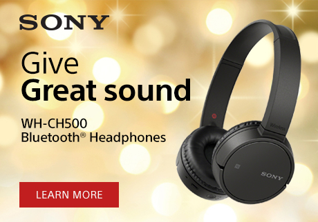 Give Great Sound. WH-CH500B Bluetooth® Headphones. Learn More