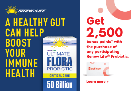 A healthy gut can help boost your immune health | Get 2,500 bonus points* with the purchase of any participating Renew Life® Probiotic