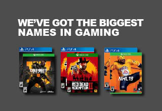 You want it. We've got it. Check out our new video game releases. We've got the biggest names in gaming