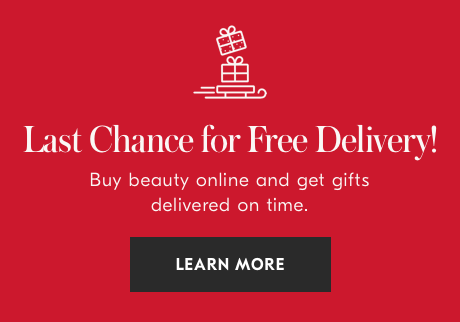Hurry. Last chance for free delivery before December 24th. Click to learn more.