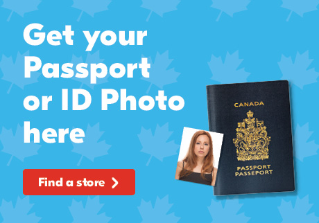 Get Your Passport or ID Photo here. It's quick and easy! Click to find a store with Passport Photos.
