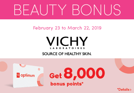 Get 8,000 bonus points* when you buy any participating Vichy Mineral 89 products