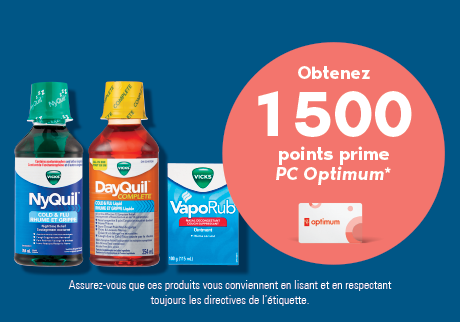 Vicks® | Obtenez 1 500 points prime PC Optimum*