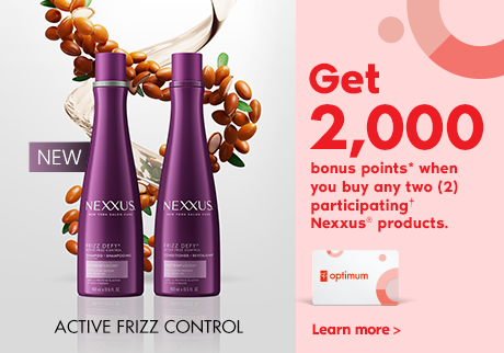 NEW Active frizz control. Get 2,000 bonus points* when you buy any two (2) participating† Nexxus® products. Learn more>