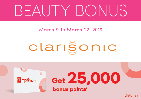 Clarisonic | Beauty Bonus. Get 25,000 bonus points*. *Details>