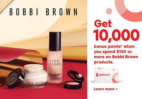 Get 10,000 bonus points* when you spend $100 or more on Bobbi Brown. Learn More>