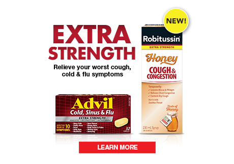 Try NEW Robitussin Honey this cold & flu season. Naturally sourced honey you love…plus, the effective cough relief you need.