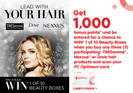 Get 1,000 bonus points* and entered for a chance to WIN‡ 1 of 10 Beauty Boxes. Learn More>