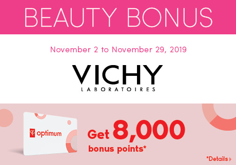 Get 8,000 bonus points* when you buy any two (2) participating Vichy Mineral 89 products. *Details