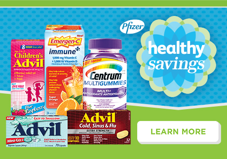 Pfizer Healthy Savings Save on some of Canada's most popular health and wellness brands.