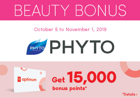 Get 15,000 bonus points* with the purchase of the new Phytonovathrix Ultimate Thickening, Densifying treatment for scalp & hair.