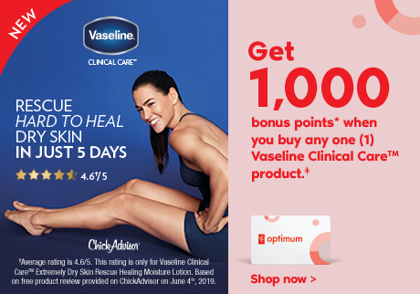 Rescue hard to heal dry skin in just 5 days Get 1,000 bonus points* when you buy any one (1) Vaseline Clinical Care™️product.‡ Shop now >