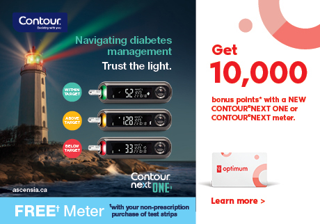 Get 10,000 bonus points* with a new CONTOUR® NEXT ONE or CONTOUR® NEXT meter from Saturday September 14 to Friday October 11, 2019