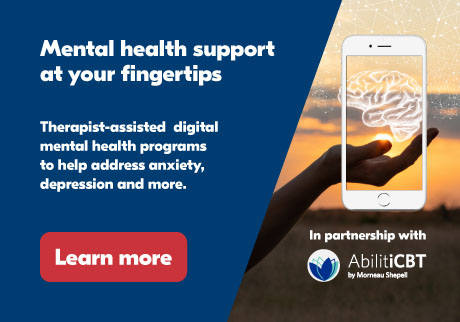 Mental health support at your fingertips. Therapist-guided digital mental health programs to help address anxiety, depression, pain and insomnia. Learn More
