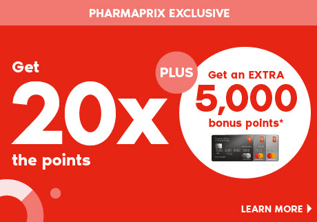 Saturday, January 25, 2020 get 20x the points when you spend $50 or more on almost anything PLUS an extra 5,000 bonus points when you pay with your PC Financial® Mastercard.